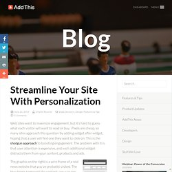 Streamline Your Site With Personalization