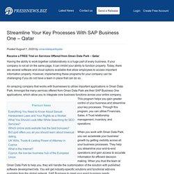 Streamline Your Key Processes With SAP Business One – Qatar