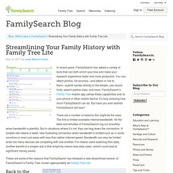 Streamlining Your Family History with Family Tree Lite