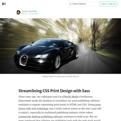 Streamlining CSS Print Design with Sass