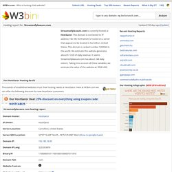 Streamsofpleasure.com Hosting Report
