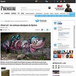 Street art : les animaux disséqués de Nychos