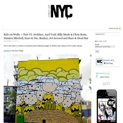 NYC Street Art images of children with Jerkface, Banksy, and more