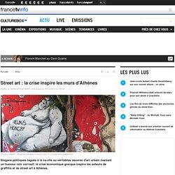 Street art : la crise inspire les murs d'Athènes