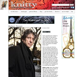 Baker Street Scarf FEATURING MR NEIL GAIMAN OMG: Knitty.com - First Fall 2015