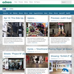 Street art Street Art and Graffiti News- advers.com