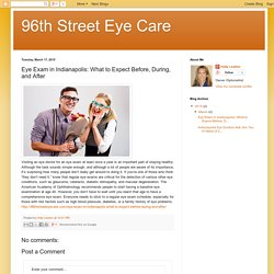 Eye Exam in Indianapolis: What to Expect Before, During, and After