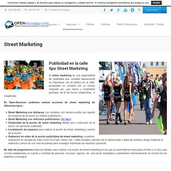 Street Marketing | open buzoneo