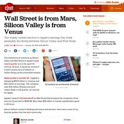 Wall Street is from Mars, Silicon Valley is from Venus | The Social Analyst