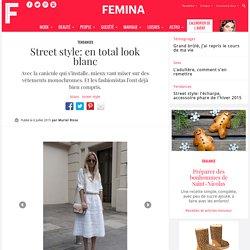 Street style: en total look blanc