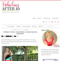 Street Style - Youthful Color block dresses