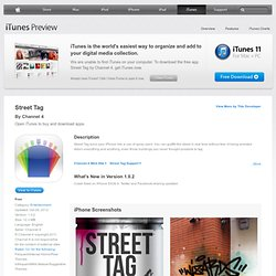 Street Tag for iPhone 3GS, iPhone 4, iPod touch (4th generation), iPad 2 Wi-Fi, and iPad 2 Wi-Fi + 3G on the iTunes App Store