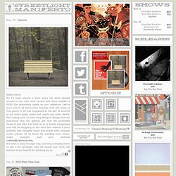 STREETLIGHT MANIFESTO - OFFICIAL WEBSITE