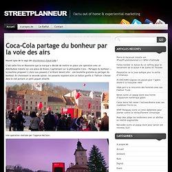 Coca-Cola partage du bonheur par la voie des airs
