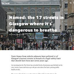 Named: the 17 streets in Glasgow where it's dangerous to breathe
