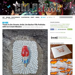 Treats in the Streets: Artist Jim Bachor Fills Potholes with Ice Cream Mosaics