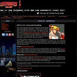 Streets of Rage Online - The #1 SOR Resource Site and Fan Community