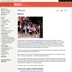 streetswiki - Walkshed