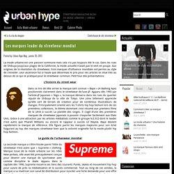 Les marques leader du streetwear mondial - UrbanHype Magazine