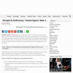 Strength & Conditioning - Pamela Gagnon: Week 1
