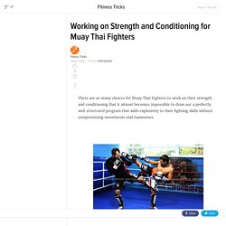 Working on Strength and Conditioning for Muay Thai Fighters