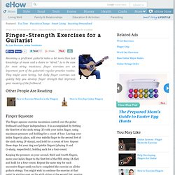 Finger-Strength Exercises for a Guitarist