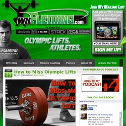 Wil Fleming.com - Strength, Power, Speed, and Explosion Training for Athletes