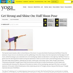 Balance Strength and Extension in Half Moon Pose