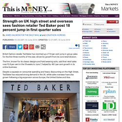 High street strength sees fashion retailer Ted Baker post sales jump