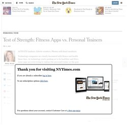 Test of Strength: Fitness Apps vs. Personal Trainers
