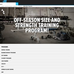 Off-Season Size And Strength Training Program!