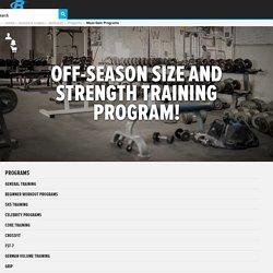 Off-Season Size And Strength Training Program!