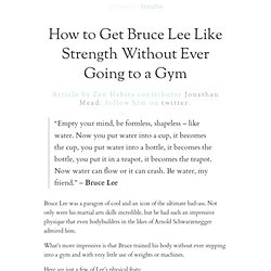 How to Get Bruce Lee Like Strength Without Ever Going to a Gym | zen habits