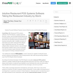 Improve Data Accuracy and Strengthen Processes in the Restaurant Industry Using a POS Software