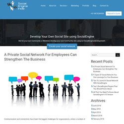 A Private Social Network For Employees Can Strengthen The Business - SocialEngine India Blog