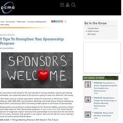 5 Tips To Strengthen Your Sponsorship Program