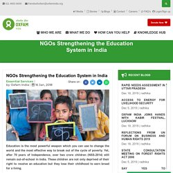 NGOs Strengthening the Education System in India