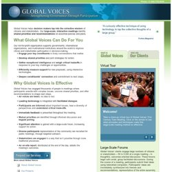 Global Voices - Global Voices | Strengthening Governance Through Participation