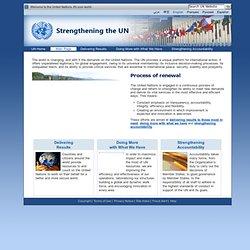 Strengthening the UN