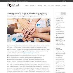 Strengths of a Digital Marketing Agency - NCSoftTech