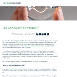 Can You Change Your Strengths?