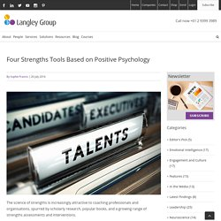Four Strengths Tools Based on Positive Psychology