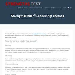 StrengthsFinder® Leadership Themes - StrengthsTest