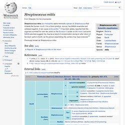 Streptococcus mitis - Wiki