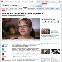 Debt stress affects health, fuels depression - Health