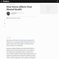 How Stress Affects Your Mental Health