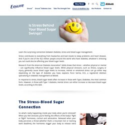 Is Stress Behind Your Blood Sugar Swings? - Ensure® India