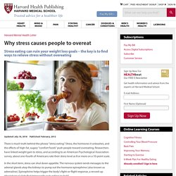 Why stress causes people to overeat