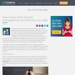 Teen Stress: What Are the Consequences and How You Can Help
