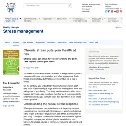 Stress: Constant stress puts your health at risk